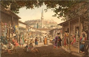 'The Bazar of Athens' from Edward Dodwell: Views in Greece, London 1821, p. 51